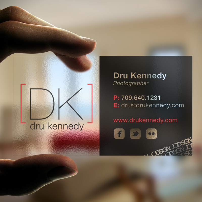 Dru kennedy photography business cards josmond design dru kennedy photography business cards reheart Image collections