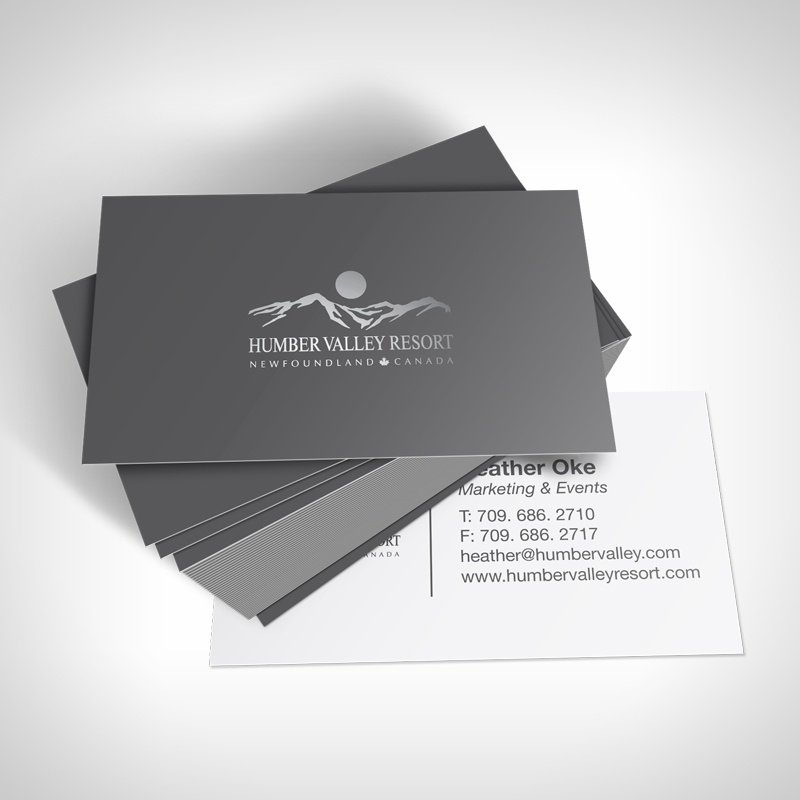 Humber Valley Resort Business Cards